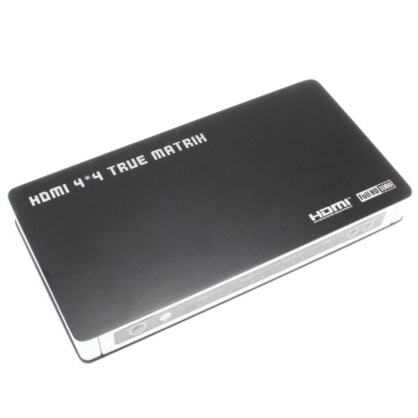 【上海問屋限定販売】 増え続けるAV機器やモニター ワンタッチで表示切り替えや同一画面を4つのモニターに表示可能 マトリクス型HDMI切替器 販売開始
