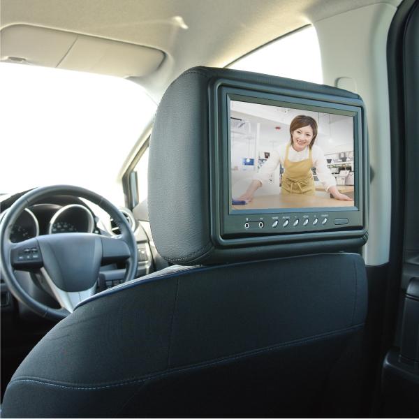 【上海問屋限定販売】 車のヘッドレストとモニターがドッキング 一人一台のモニターで飛行機のシート気分 9インチ大画面ヘッドレストモニター販売開始