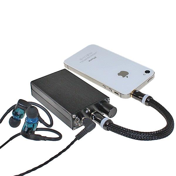 【上海問屋限定販売】iPhoneにも使えるポータブルアンプ 高温域と中音域を美しい音にバッテリー内蔵ポータブルヘッドフォンアンプ 販売開始