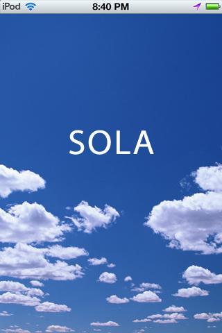 美しい、数々の空の写真を楽しむ、iPhoneアプリ『SOLA』リリースのお知らせ