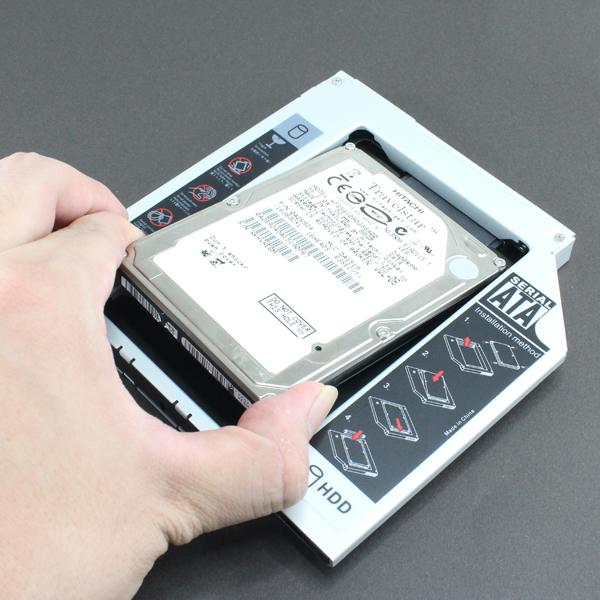【上海問屋限定販売】 ノートPCにHDDを増設 空いているドライブベイでHDDを使おう 2.5インチSATAハードディスクマウンタ各種 販売開始