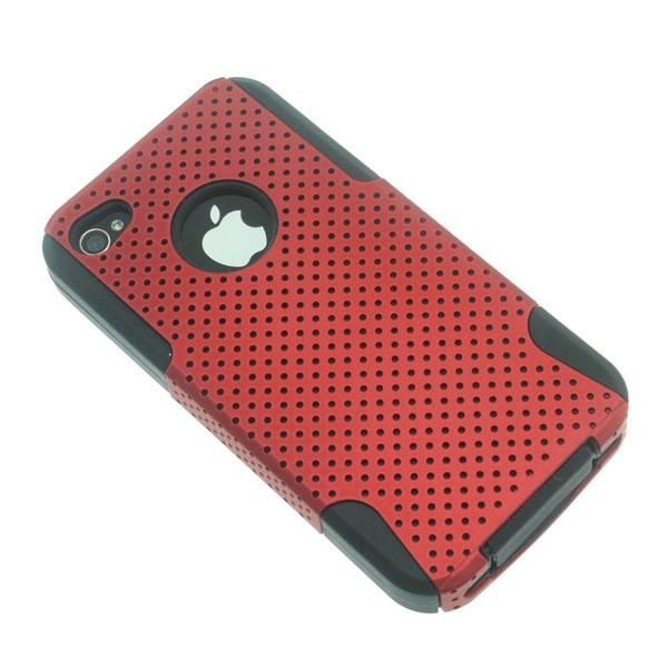 【上海問屋限定販売】iPhone4 4S専用 メッシュデザインが涼しげホコリの侵入防止カバーつきケース 販売開始