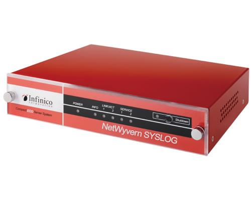 永らくご好評頂いて参りました超低消費電力のNetWyvernSYSLOGをこの度バー  ジョンアップいたします 「中小規模システム向けに常時死活監視機能を新たに搭載」 ~消費電力5.5Wの高CPでネットワークを見張り、あなたに安心とゆとりを与えます~