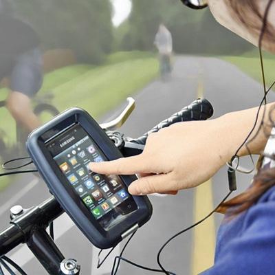 【上海問屋限定販売】スマホを自転車のハンドルに固定 サイクリングがもっと楽しく ハンドル取り付け用防水スマホケース 販売開始