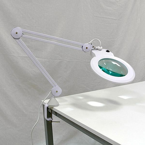 【上海問屋限定販売】 拡大鏡の進化系 アーム付きだから両手が自由に使える 蛍光灯付き拡大レンズアーム 販売開始