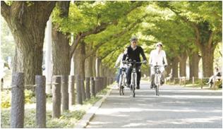 自転車散走とペアストレッチで週末リフレッシュ!女性限定 街巡りコラボツアー「ブランチ&ボディーストレッチ散走」 2012年9月9日(日)開催