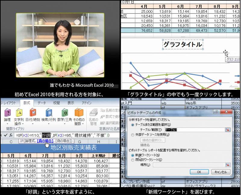 聴覚障害者向けeラーニング「Excel 2010使い方」を動学.tvに8月24日公開