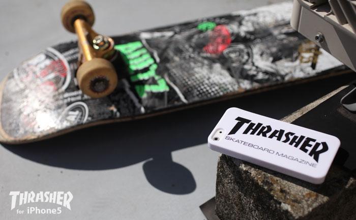 80′sカルチャーを牽引した有名スケートブランド×iPhone5が超クール! ファン待望の「THRASHER/スラッシャー」ケースをストラップヤから発売開始!!