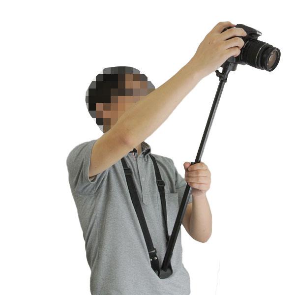 【上海問屋限定販売】手ブレを抑えて いつもと違う視点から撮ろう 一眼レフ・ビデオカメラ用首掛け式一脚 販売開始