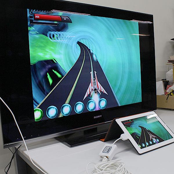 【上海問屋限定販売】iPadの画面を大画面テレビで観よう 最大15m離れた場所でも視聴可能 iPad iPhone用HDMI出力変換アダプター 販売開始
