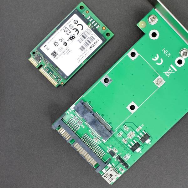 【上海問屋限定販売】 ノートパソコンのSSDをデスクトップで使おう mSATA~SATA 変換アダプタ 販売開始