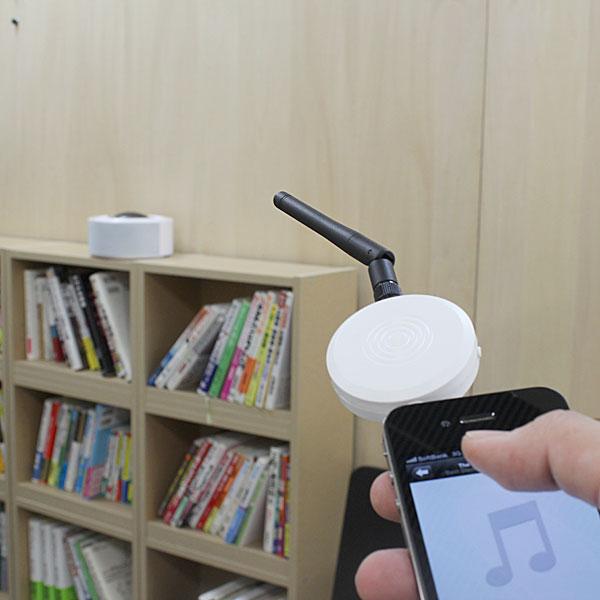 【上海問屋限定販売】iPhone スマホ PCの音楽再生を離れた場所から操作可能 2.4GHz電波式ワイヤレスマルチメディアプレーヤー 販売開始