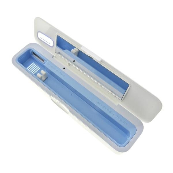【上海問屋限定販売】 まだ雑菌だらけの歯ブラシを使いますか? 紫外線で歯ブラシを除菌し常に清潔な状態に USB接続 除菌歯ブラシケース2種 販売開始