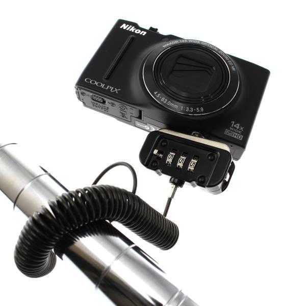 【上海問屋限定販売】カメラを盗難から護ろう 海外旅行でも安心 カメラ対応盗難防止ケーブルロック 販売開始