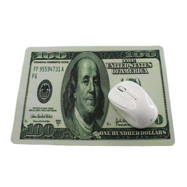 【上海問屋限定販売】マウスをお金の上で転がす贅沢? 大きなサイズで使いやすい 外貨デザイン マウスパッド 販売開始