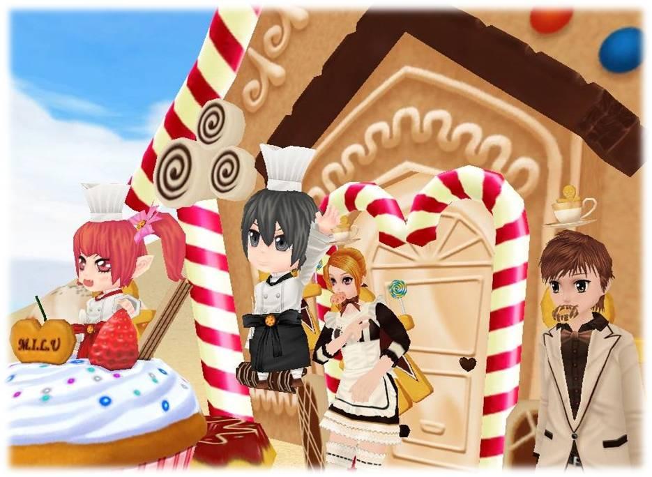 出会える、つながる、楽しめる、毎日が楽しくなる3D コミュニティサービス「MILU(ミル)」お菓子イベント開始!~1週目~