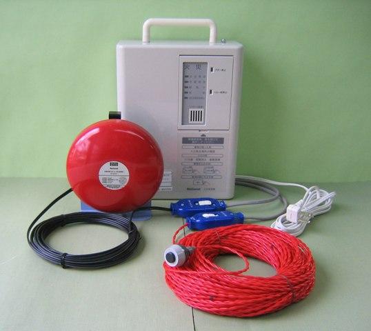 ハンディ-型受信機と火災感知線(電線一体型火災センサ)を組合せた/ハンディ-型火災報知器を新発売