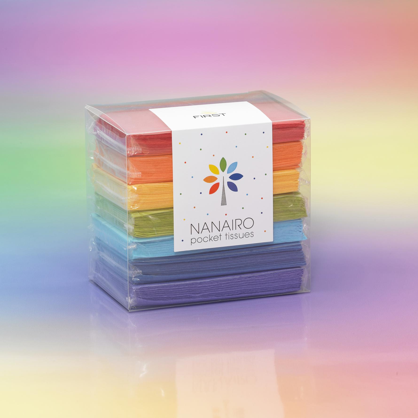 カラフル ポケットティッシュで日常生活に彩りを 「NANAIRO pocket tissues」 2013年4月1日(月)より発売開始