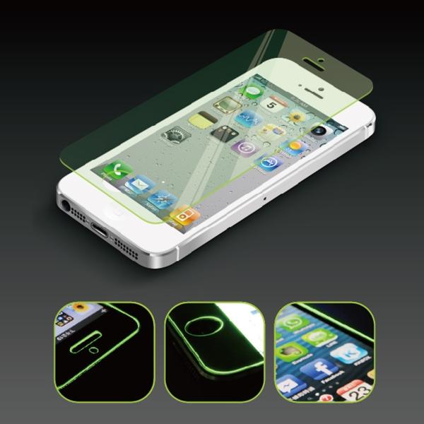 【上海問屋限定販売】 iPhone5を美しく護る  強化ガラスなみに強いフィルム しかも美しい 表面強度9H オーロラフィルム販売開始