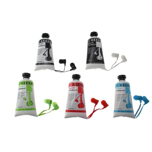 【上海問屋限定販売】歯磨き粉?絵の具?いいえイヤホンです。イヤホンを可愛すぎるケースに入れましたチューブ型ケース入りイヤホン 販売開始