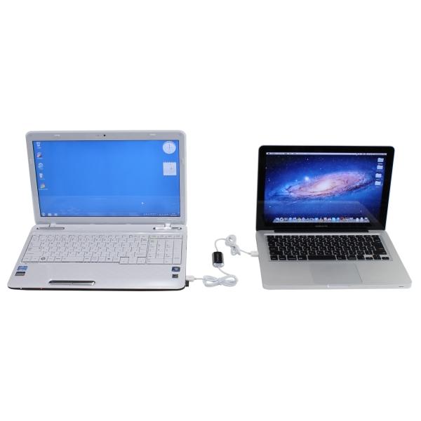 【上海問屋限定販売】パソコンの引越しも楽々 WinとMac間でのデータ転送もOK Windows-Mac対応 USB接続 データリンクケーブル販売開始