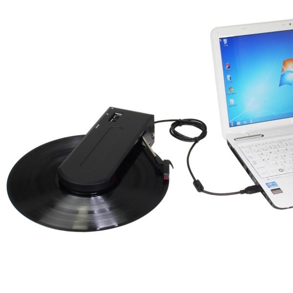 【上海問屋限定販売】懐かしいレコードをいつでもどこでも鑑賞可能 PCに繋いでデジタルデータに変換も 乾電池対応USBポータブルレコードプレーヤー 販売開始