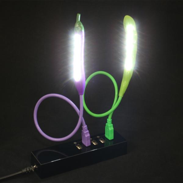【上海問屋限定販売】野菜がライトになっちゃった USB LEDライト ナスとサヤエンドウ 販売開始