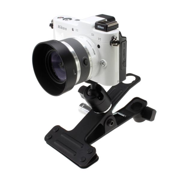 【上海問屋限定販売】三脚では大げさだからクリップでとめよう クリップ式カメラスタンド2種 販売開始
