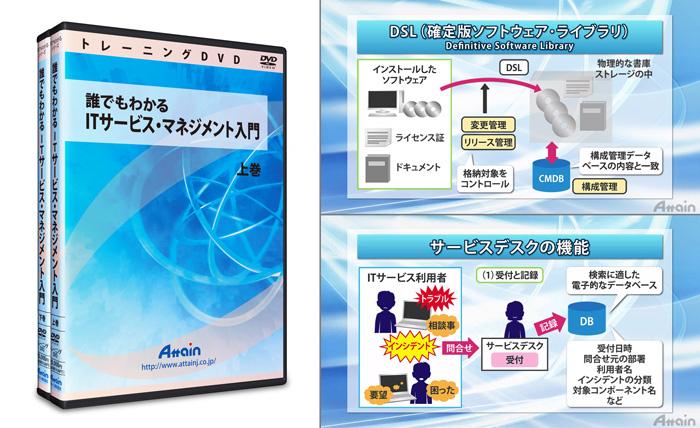 「ITサービス・マネジメント入門(全2巻)」トレーニングDVDを発売
