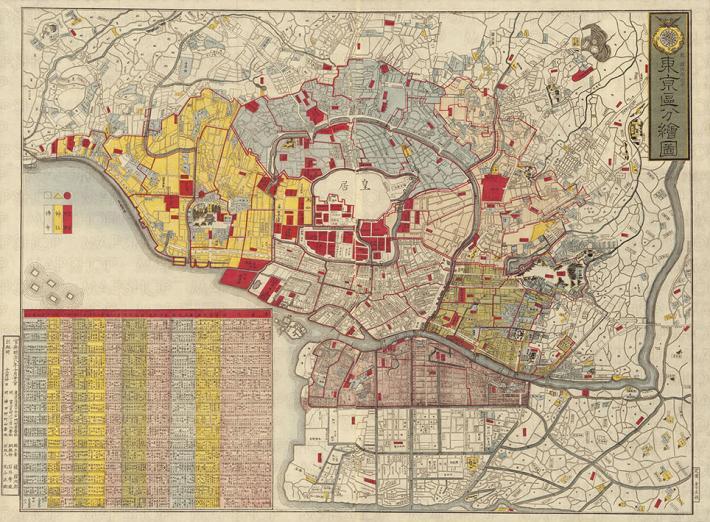 「G.H.Q.東京占領地図」「帝都大震火災系統地図」「東京区分絵図」など 東京の歴史を知る貴重な古地図 MAPSHOPにて「市街地図」シリーズを印刷とダウンロードで販売開始!
