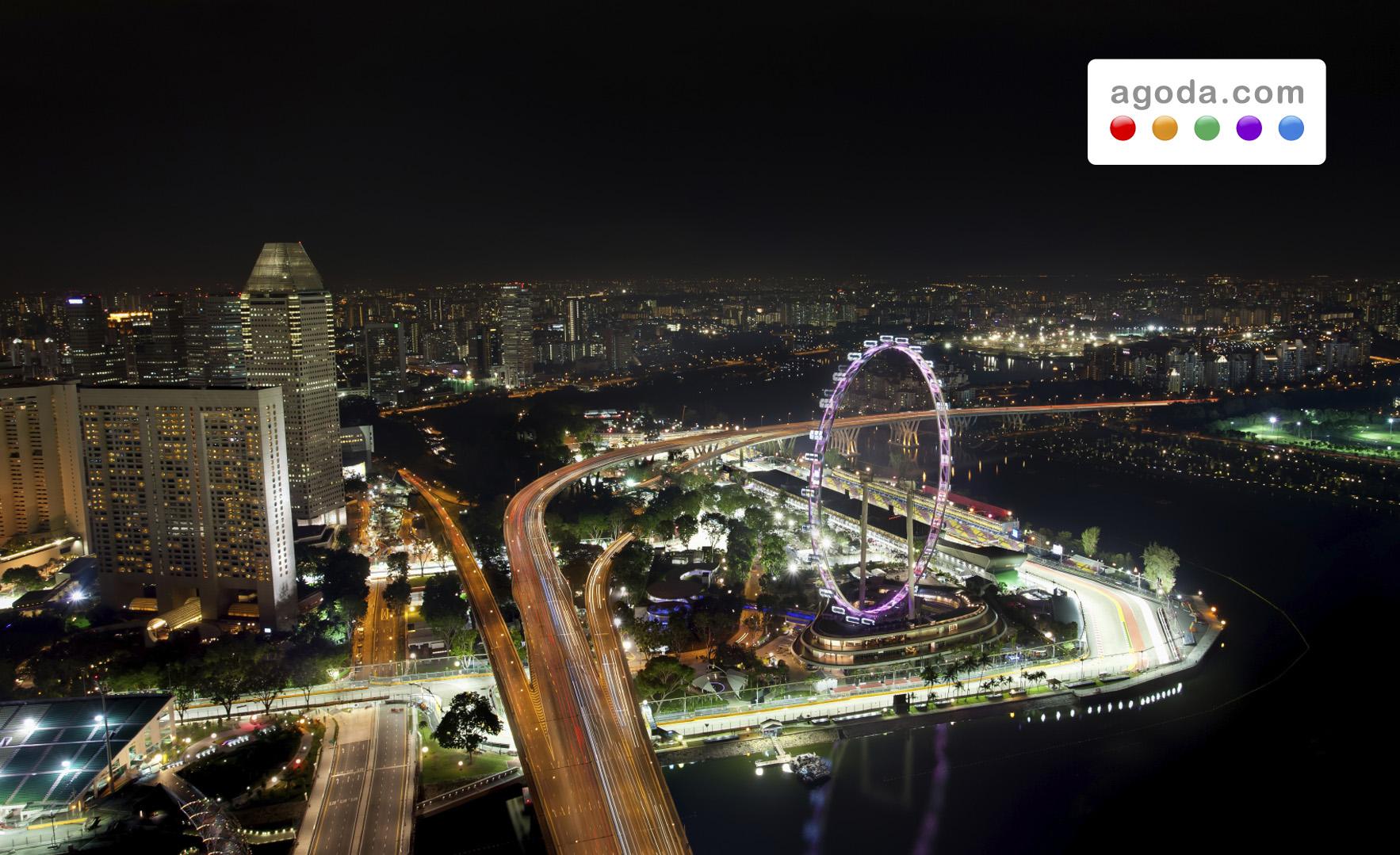 Agoda.comが人気F1レースに合わせてシンガポールのホテル特別価格もヒートアップ!