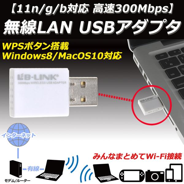 【上海問屋限定販売】 11n/g/b対応 高速300Mbps 無線LAN USBアダプター 販売開始