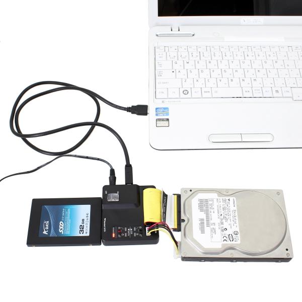 【上海問屋限定販売】 外付けHDDを簡単増設 ベア(裸)のHDDをUSBで接続可能 SATA/IDE HDD-USB変換アダプター 販売開始