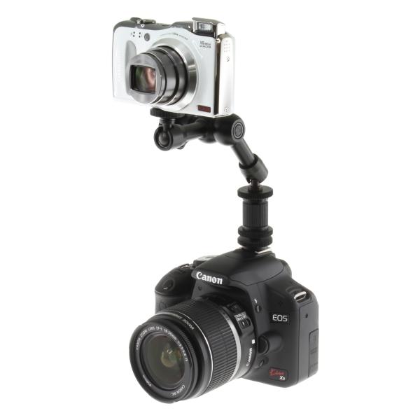【上海問屋限定販売】 カメラの上につけるアーム LEDライトを設置したり使い方色々 カメラ用汎用アーム販売開始