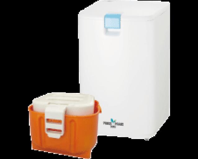 日本初、 プラスチックごみも小さく減らせる 家庭用生ごみ処理機