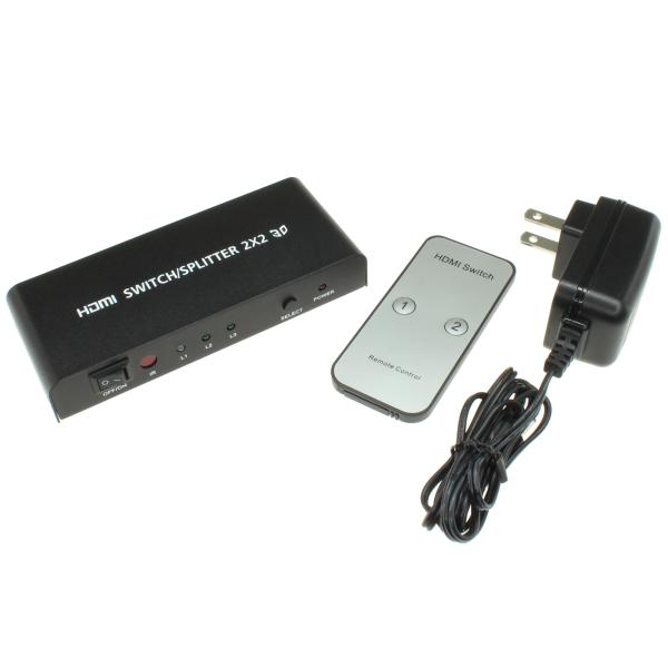 【上海問屋限定販売】 会議やゲーム大会でも大活躍 2入力2出力対応 HDMI切替分配器 販売開始