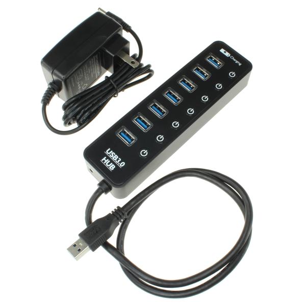 【上海問屋限定販売】 USB3.0で高速データ転送が可能 個別電源スイッチがついた7ポートUSBハブ 販売開始