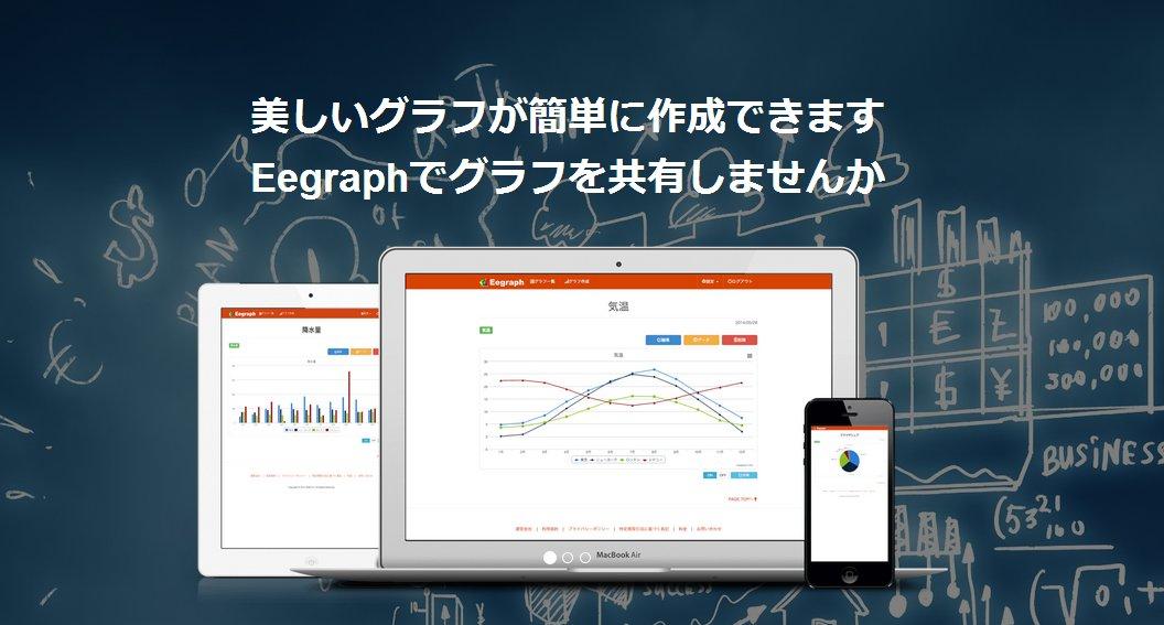 グラフ作成サービス『Eegraph』がグラフ共有機能をリリース