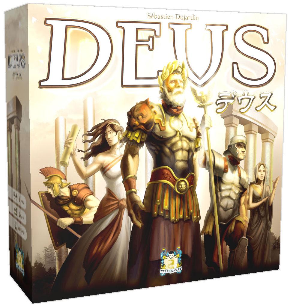 世界各国のボードゲームシーンの話題を独占している文明発展ゲーム「デウス」日本語版 7月下旬発売予定
