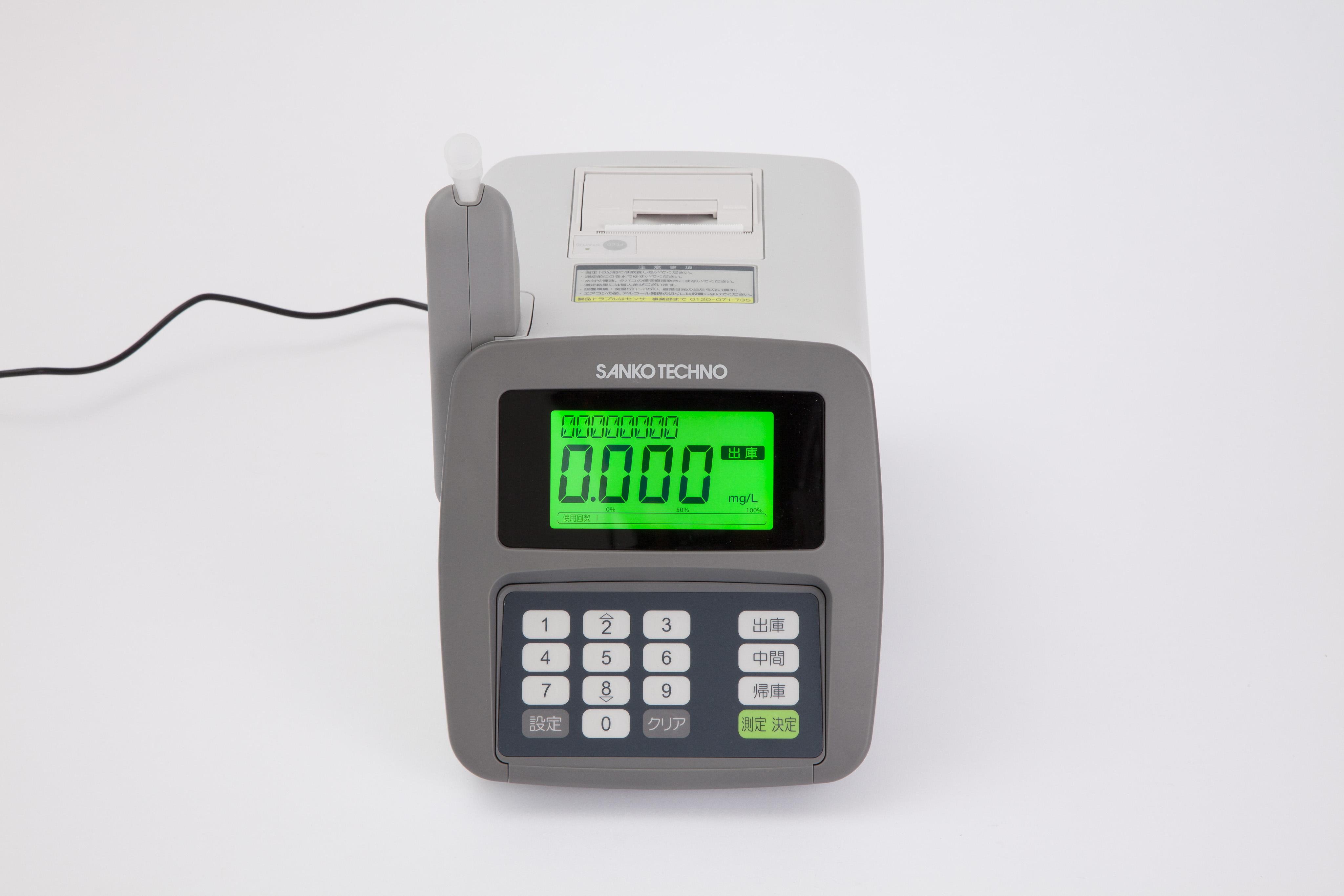 サンコーテクノのアルコール測定器「ST-3000」音声ガイド機能にエーアイの音声合成AITalk®が採用