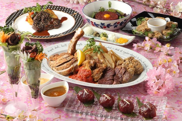 豊富な肉料理✕鎌倉野菜✕日本のSAKE 『SAKEビストロW』(霞が関)桜づくしの『春感(しゅんかん)!さくらフェアー』 3/7よりスタート