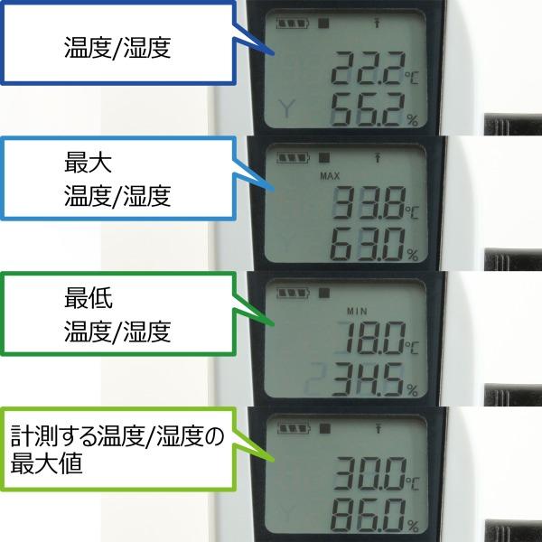 【上海問屋限定販売】 温度や湿度を計測しPCに記録 ワインセラーや書庫など大切なものの管理に デジタル温度・湿度計 データロガー 販売開始