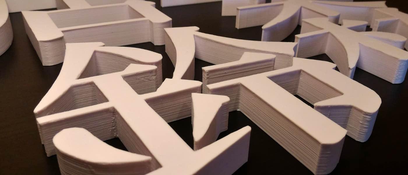 3Dプリンターで製作した立体文字を購入できるECサイトがオープン