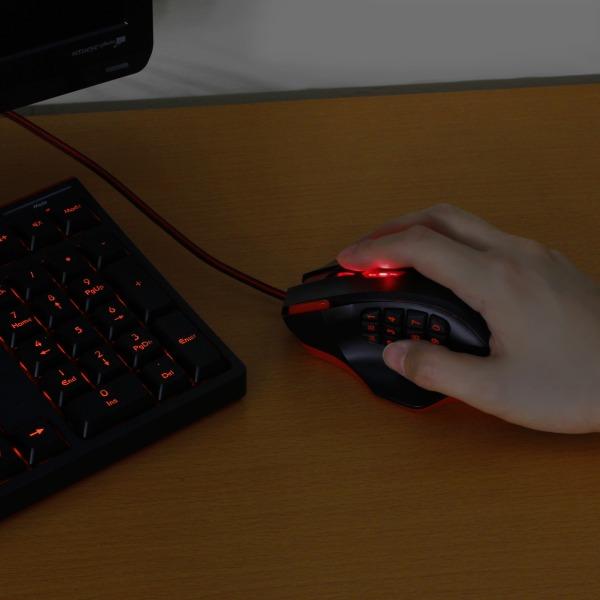【上海問屋限定販売】 全てのボタンを使いこなせば最強のゲーマー 18ボタン搭載 USB接続ゲーミングレーザーマウス 販売開始