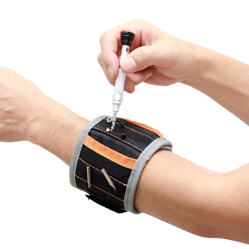 【上海問屋限定販売】 作業中のネジを手元に保管できる 紛失防止にも役立つ マグネット吸着リストバンド 販売開始