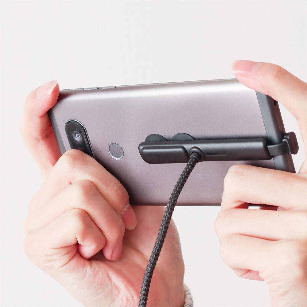 スマホの充電時に出っ張らないから充電しながらでも持ちやすく断線を防ぐ 『横持ちゲーム向け「ピタっとつくL字Type-C充電ケーブル」』を発売開始