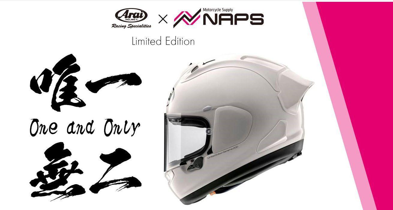 """Arai×NAPS""唯一無二のヘルメット ナップスだけの特別受注限定モデルが登場! 世界に1つだけのシリアルナンバー入り"