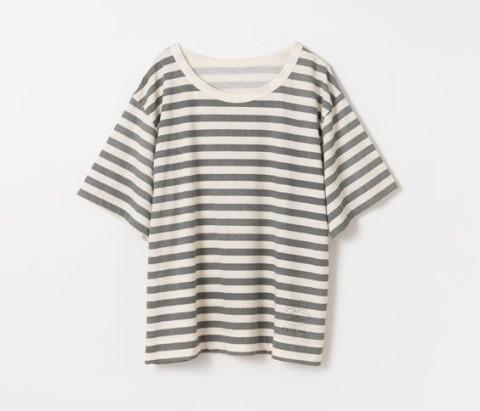 リコットンボーダー半袖Tシャツ